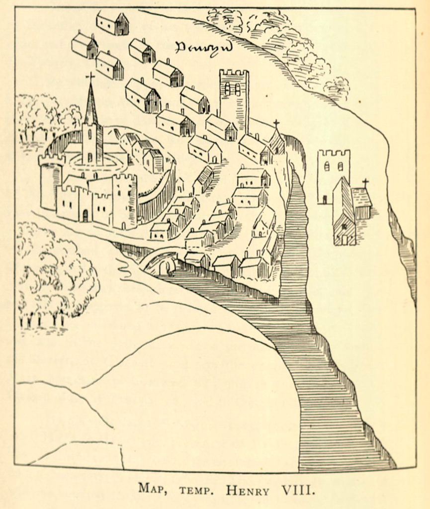Line drawing of Glasney Collegiate Church, Penryn