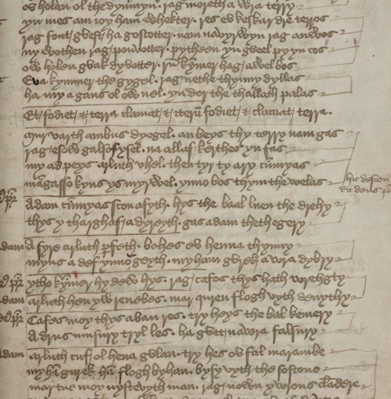 Scan of handwritten historic document