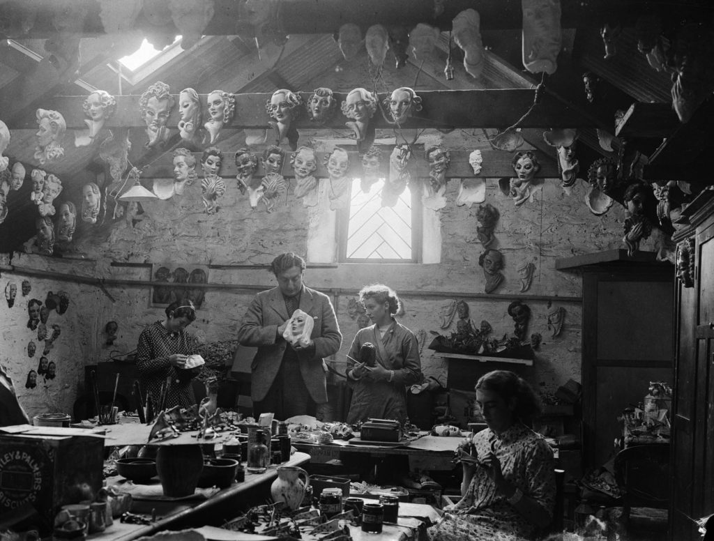 Photograph of the inside of a creative workshop.